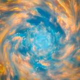Tunnel från moln Abstrakt himmelbegrepp Royaltyfri Fotografi