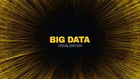 Tunnel futuriste abstrait, grand train de données de données illustration libre de droits