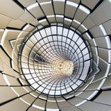 Tunnel futuriste de formes abstraites d'or Images stock