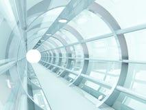 Tunnel futuristic. Futuristic tunnel of steel and metal, interior view. Futuristic background, business concept