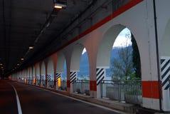 Tunnel Garda sjö, Italien Fotografering för Bildbyråer