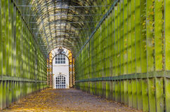 Tunnel garden in London. A garden tunnel in London, England Royalty Free Stock Images