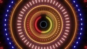 Tunnel girante astratto con le multi luci di colore royalty illustrazione gratis