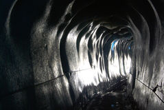Tunnel in glacier Royalty Free Stock Images