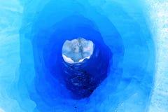 Glacier Round Hole Stock Image