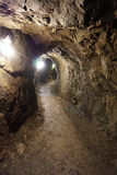 Tunnel in the gold mine Stock Photo