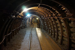 Tunnel in the gold mine Royalty Free Stock Photos