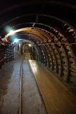 Tunnel in the gold mine Stock Photography