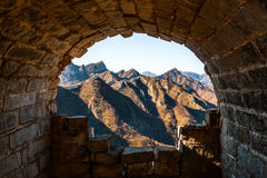 Tunnel in the Great Wall of China Royalty Free Stock Images