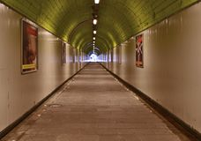 Tunnel green Royalty Free Stock Photography