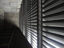 Tunnel grigio del trasporto con gli sfiati Fotografia Stock Libera da Diritti