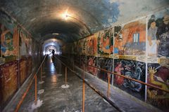 The tunnel of Hell, Wewurukannala Vihara near Royalty Free Stock Photo