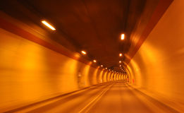 Tunnel at high speed Royalty Free Stock Photo