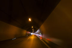 Tunnel on the highway Stock Photos