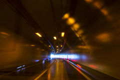 Tunnel on the highway Stock Image