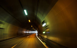 Tunnel on the highway stock photo