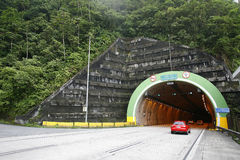Tunnel in highway, brazil Royalty Free Stock Image