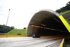 Tunnel in highway, brazil Royalty Free Stock Images