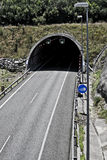 Tunnel on the highway Stock Photography