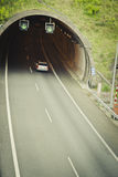 Tunnel on the highway Royalty Free Stock Photo