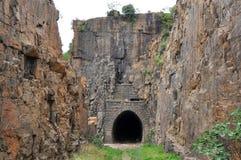 Tunnel historique de la vue NZASM, Afrique du Sud photos stock