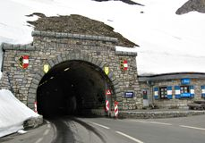 Tunnel Hochtor on High Alpine Road,Austria Stock Photo