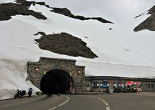 Tunnel Hochtor on High Alpine Road,Austria Royalty Free Stock Photo