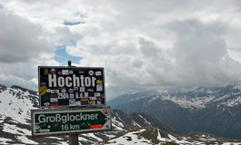 Tunnel Hochtor on High Alpine Road,Austria Stock Images