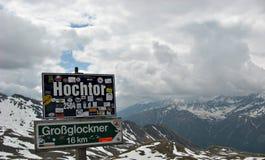 Tunnel Hochtor sull'alta strada alpina, Austria Immagini Stock