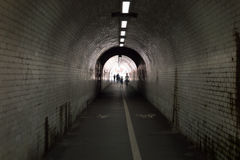 Through The Tunnel Royalty Free Stock Images