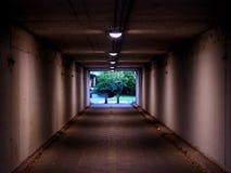 Tunnel i Antwerp, Belgien fotografering för bildbyråer