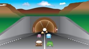 Tunnel i berg Arkivbilder