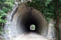 Tunnel i bergen royaltyfri bild