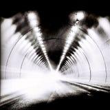 Tunnel i BW Arkivfoto