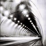 Tunnel i BW royaltyfri fotografi