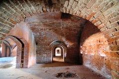 Tunnel i fort Arkivfoton