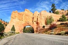 Tunnel i rocken fotografering för bildbyråer