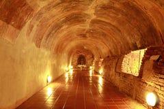 Tunnel i tempel royaltyfri foto
