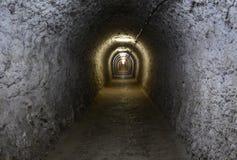 Tunnel i Turda den salta minen Arkivbilder