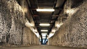 Tunnel i Turda den salta minen Royaltyfri Foto