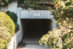 Tunnel i Vancouver, F. KR., Kanada Royaltyfri Foto