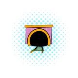 Tunnel icon, comics style Royalty Free Stock Photos