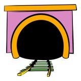 Tunnel icon, icon cartoon Stock Image