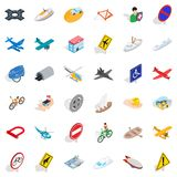 Tunnel icons set, isometric style. Tunnel icons set. Isometric style of 36 tunnel vector icons for web isolated on white background Stock Photo