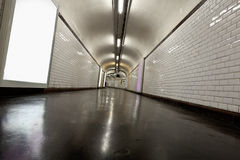Tunnel illuminated with neon Royalty Free Stock Photo