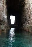 Tunnel im Berg Stockfotos