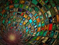 Tunnel of images Royalty Free Stock Photo