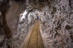 Tunnel Inside Gold MIne Royalty Free Stock Photos