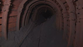 The tunnel with iron ore stock footage
