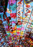 Tunnel kite. Colorful kites for background Stock Photos